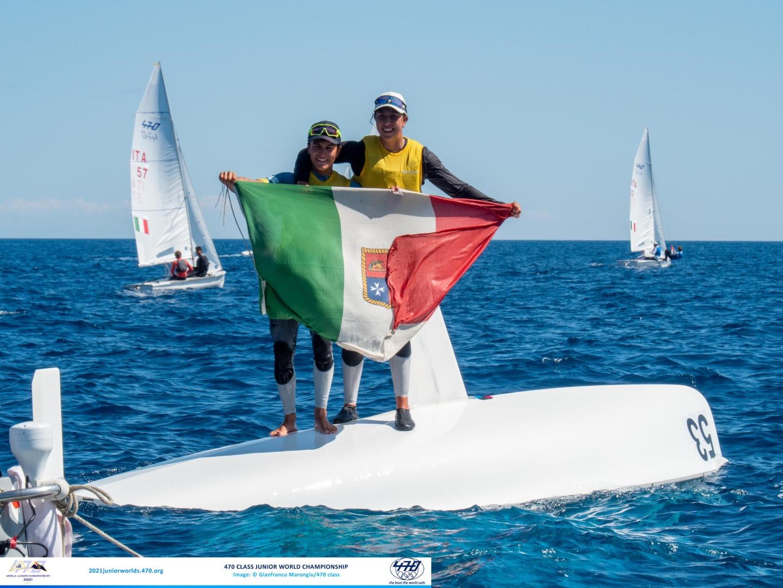 Marco GRADONI / Alessandra DUBBINI (ITA) 2021 470 Mixed Junior World Champions